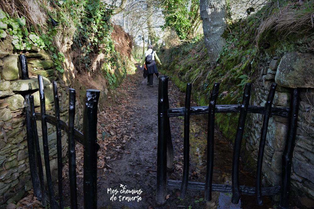 Chemin creux et barrières traditionnelles