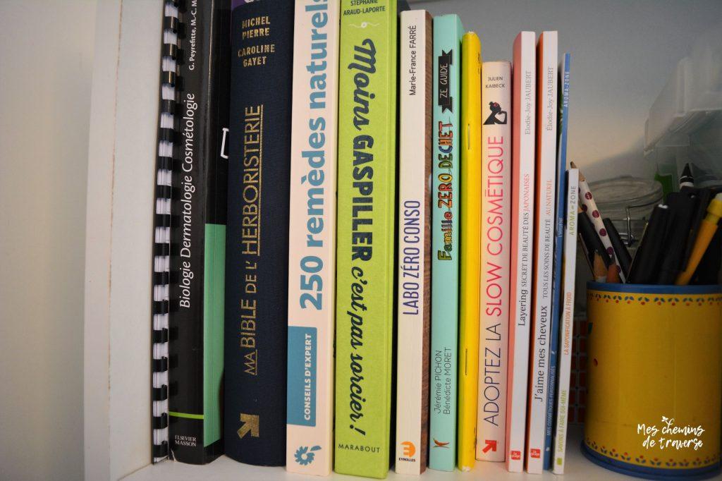 bibliotheque slow cosmetique et zero dechet