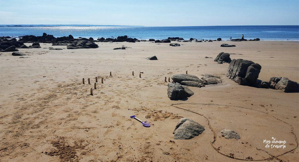 Molkky sur la plage a Beg Leguer