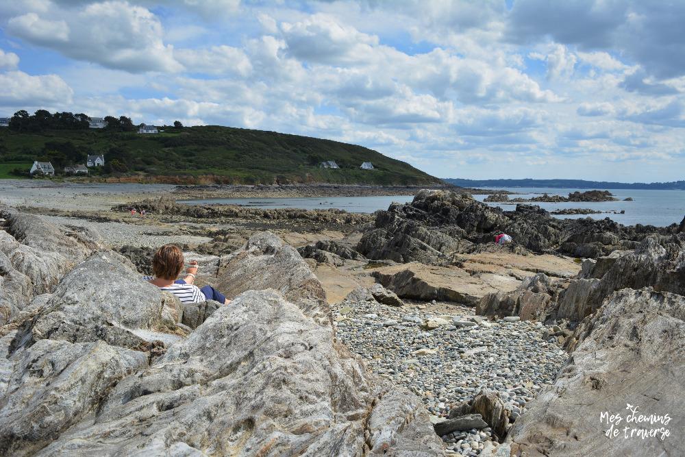 les roches dechiquetées de Locquémeau, Bretagne