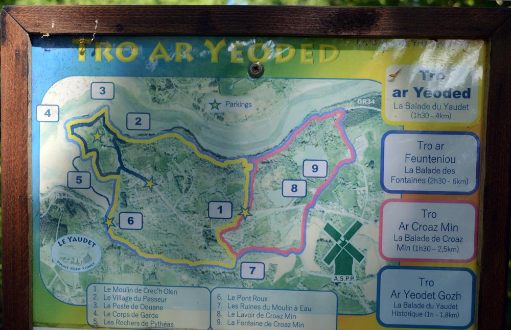 randonnées au départ du Yaudet