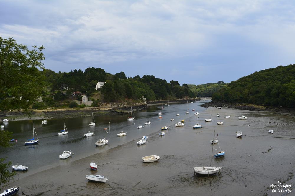 le port du yaudet sur l'estuaire du léguer