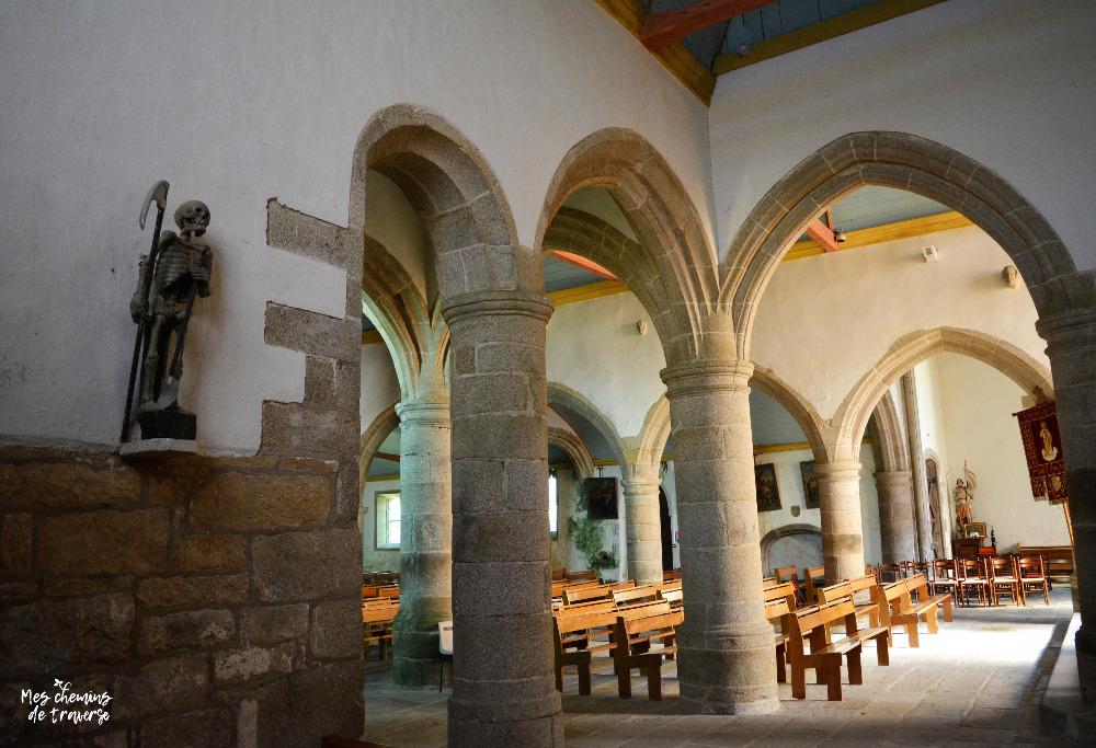Ankou dans l'église de Ploumilliau