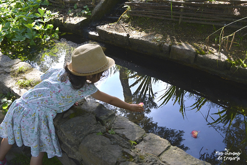 jeux d'eau à La Roche Jagu