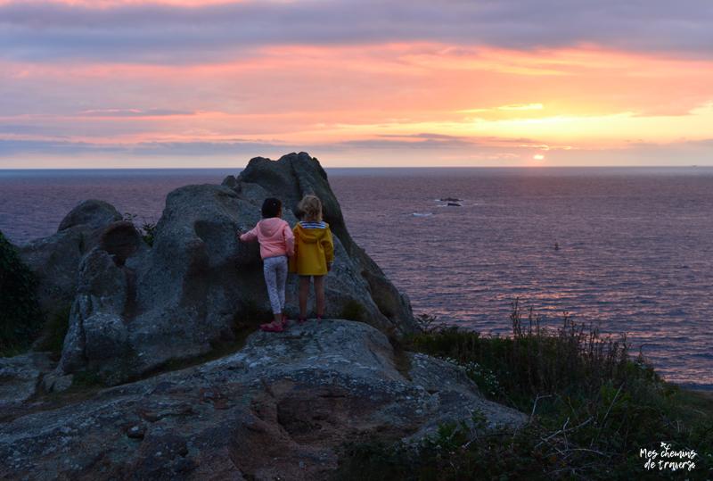 coucher de soleil depuis l'ile milliau