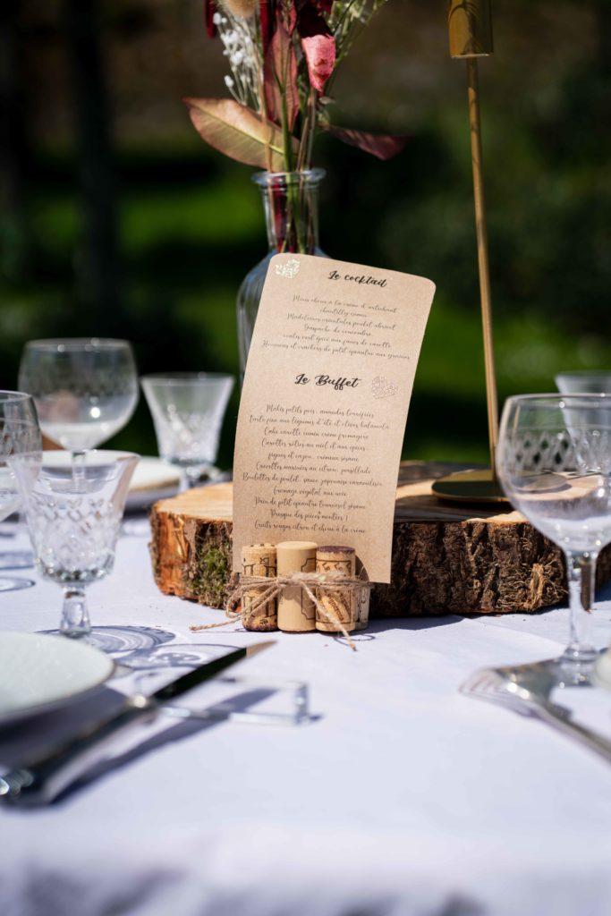 menu mariage