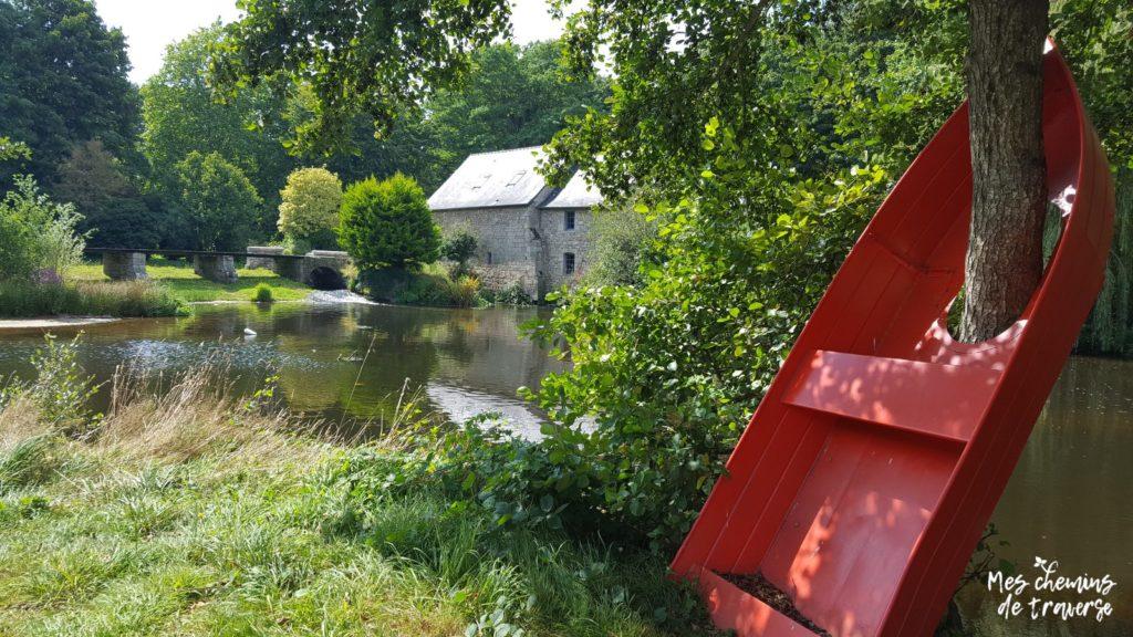 Art contemporain et nature sur les rives du Trieux à Guingamp
